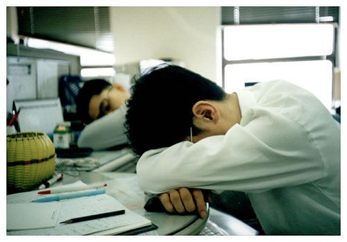 tired in office