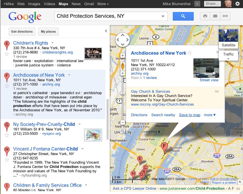 google bubble ad