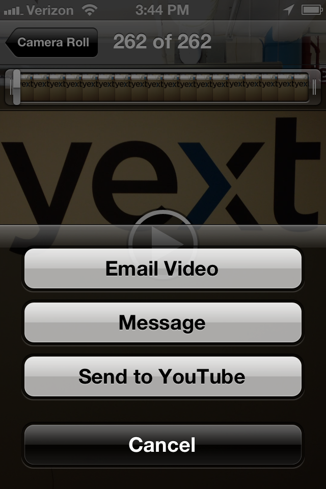 how to send video from iphone