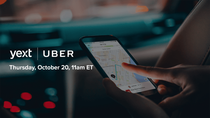 yext uber webinar