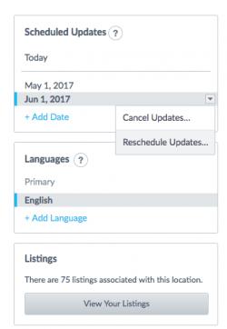 Scheduled Updates - 4