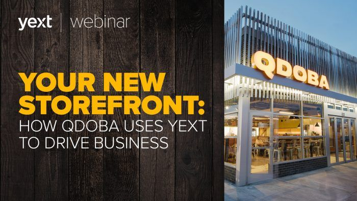 yext for food webinar qdoba