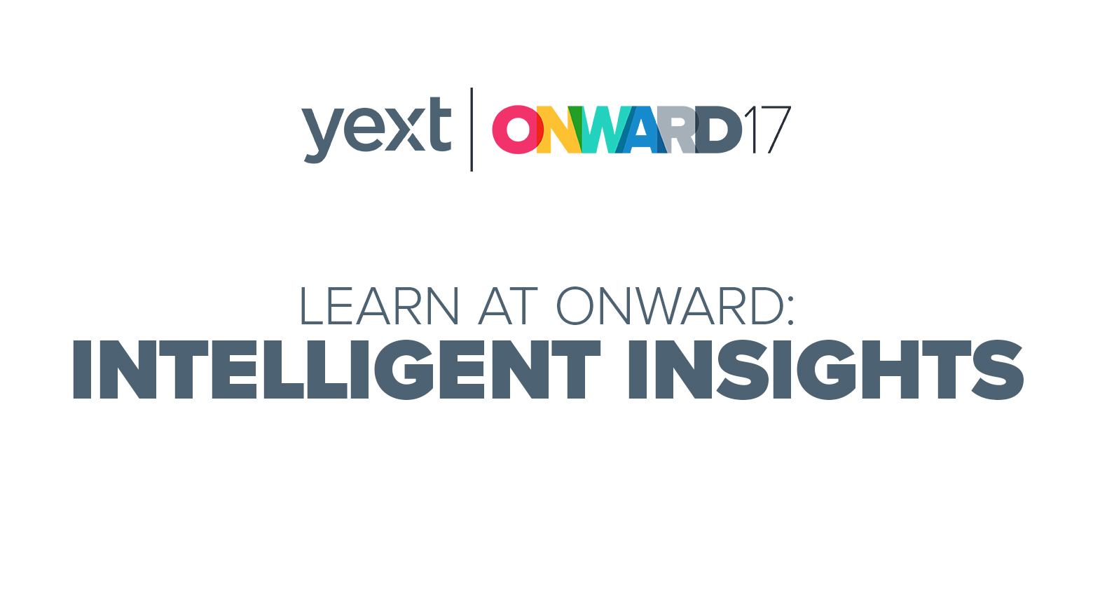 ONWARD yext intelligent insights