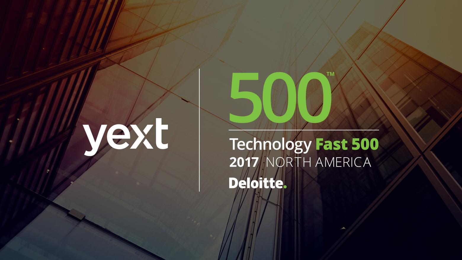 Deloitte Technology Fast 500 Yext 2017