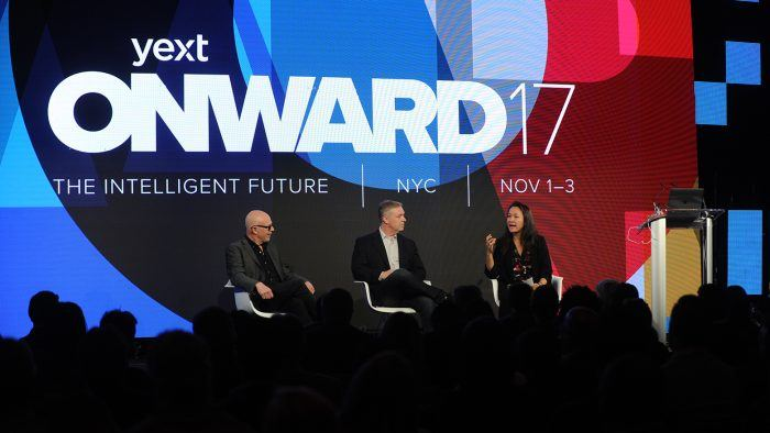 speaks onstage at the ONWARD17 Conference- Day 1 on November 1, 2017 in New York City.