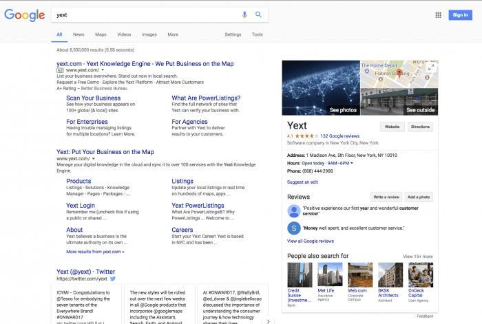 yext search schema markup