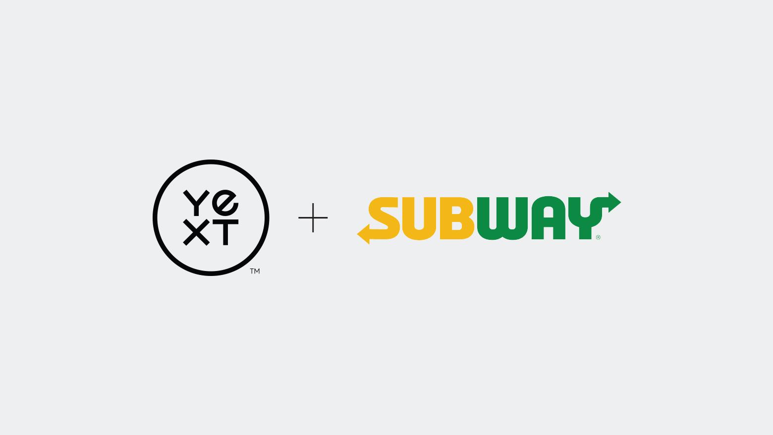 Yext Partners with Subway® Restaurants