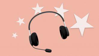 Customer representative headset